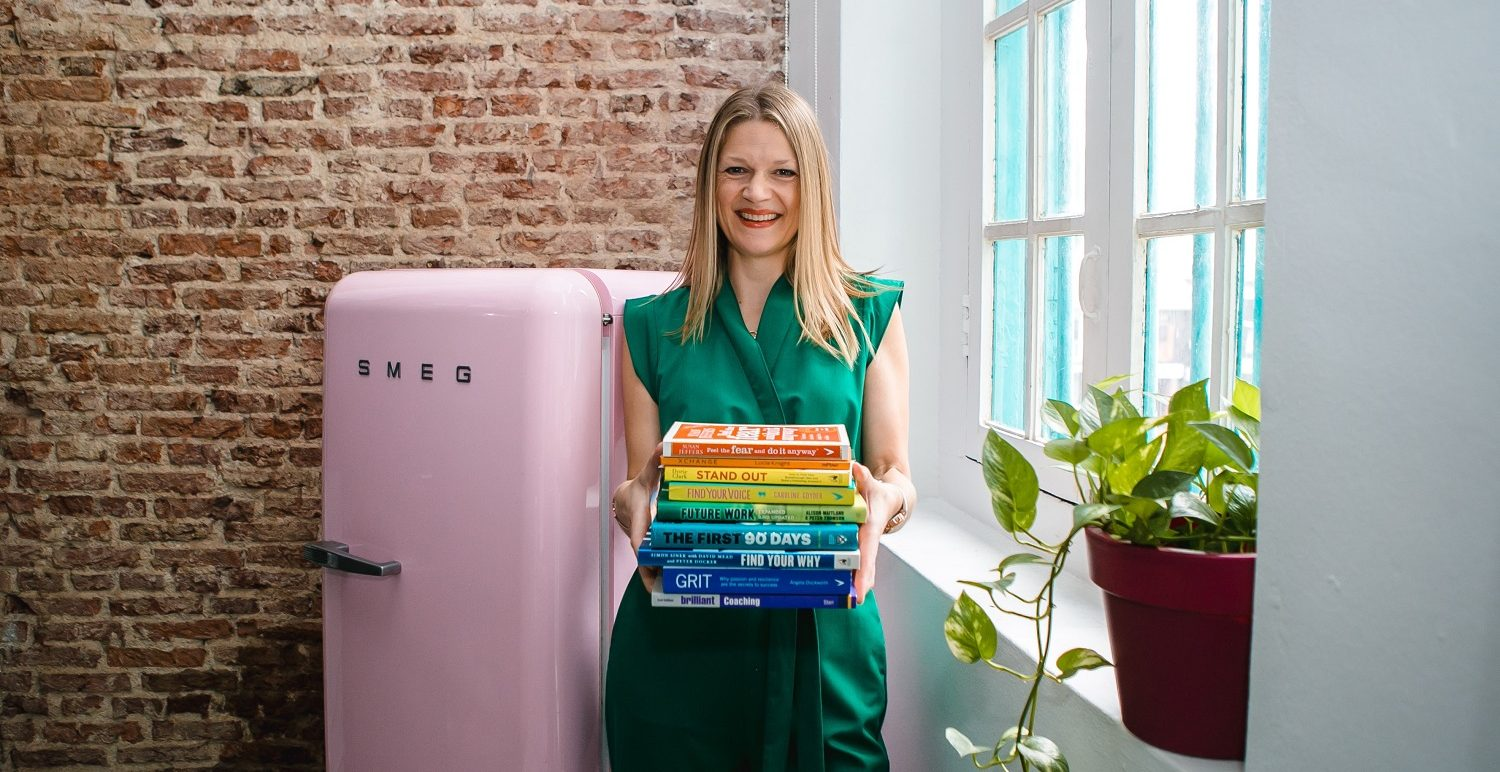 Ellie with books